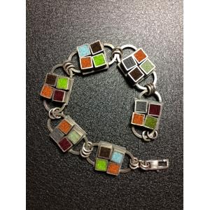 Kitchen Tile Bracelet- Earth Tone Palette