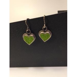 Heart Earrings- Peas