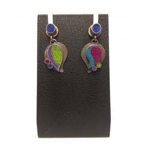 Two Part Paisley Earrings- Gem Palette