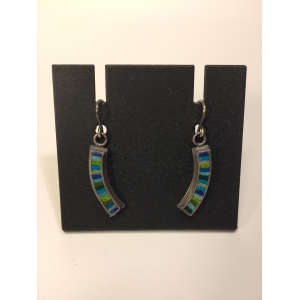 Extra Small Curved Earrings- Multi-color Palette