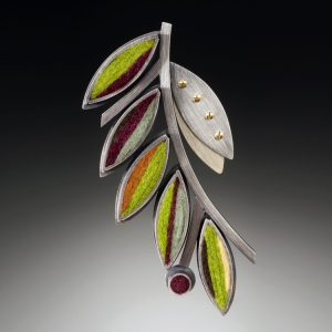 Olive Branch Brooch- Earth Tone Palette