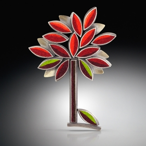 Perfect Tree Brooch- Autumn
