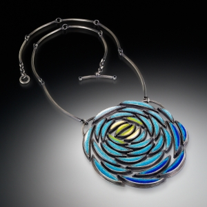 Blue Mum Necklace