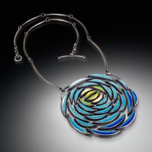 Blue Mum Necklace