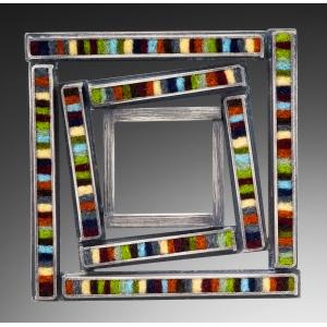 Skinny Rectangle Window Brooch