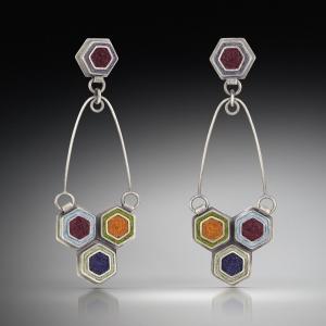 Two Part Hex Earrings
