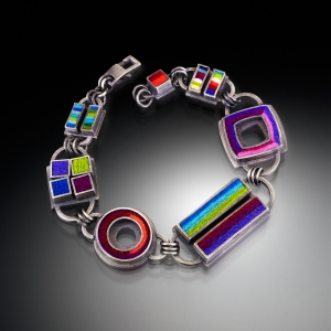 Sqaures, Rectangles and a Circle Bracelet