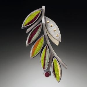 Olive Branch Brooch